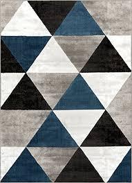modern carpet pattern. Well Woven Arlo Tiles Blue Modern Triangle Pattern 5 X 7 (5\u0027 Carpet