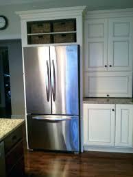 refrigerator end panel cabinets around refrigerator kitchen