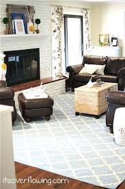 rug for brown couch family room with blue rug and yellow accents brown couches and rattan rug for brown couch trying to decorate