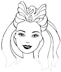 Masque Barbie Princesse D Coupage A Imprimer Coloriage De Masque De Princesse A Imprimer L