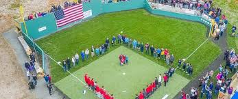 Make A Football Field Rug  Chica And JoFootball Field In Backyard