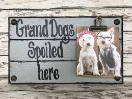 photo holder dogs spoiled here single picture wall frame memo board gray grey reclaimed sign with