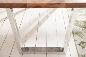 Casa Padrino Designer Esstisch Braun Silber 200 X 98 X H 76 Cm