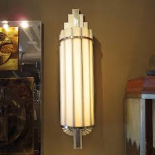 long wall sconce lighting. Art Deco Large Theater Wall Sconces For Sale. A Classic Reference To The Skyscraper Form Is Prominent In These Great Fixtures. Originally From Long Sconce Lighting E