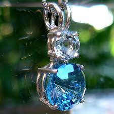 petite aqua aura and aquamarine super nova pendant