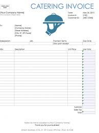 custom service invoices catering invoice template word free catering service invoice