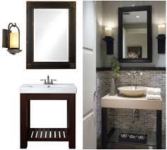 Bathroom : Design Bathroom Vertical Black Framed Mirror Bathroom ...