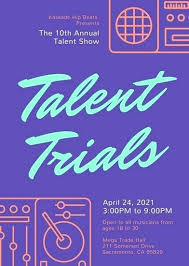 Got Talent Show Designs And Fundraising Flyer Template Audition