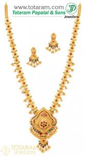 emerald necklace 22k gold indian jewelry in usa