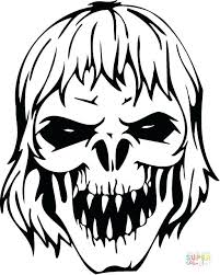 zombie coloring pages scary zombie skull scary zombie colouring pages