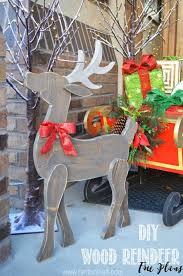 diy wood reindeer free plans