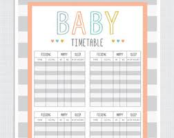Baby Schedule Template For Nanny Printable Schedule Template