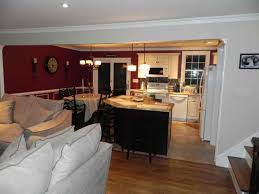 open floor plan kitchen living room
