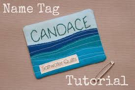 Saltwater Quilts: Name Tag Tutorial & Ever need a name tag... well here is a quick and easy tutorial to make one  that represents you and your personality. When it comes to making a name tag  ... Adamdwight.com
