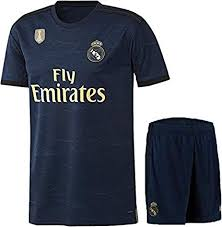 Real Madrid Away Jersey With Shorts 2019 20 Champion Badge On Jersey