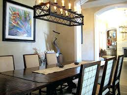 size of chandelier for dining table lantern chandelier for dining room
