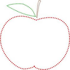teacher apple clipart black and white. red stiched apple clip art, back to school, teacher clipart black and white