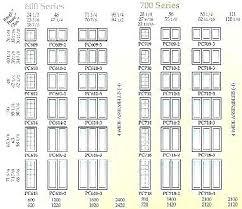 Andersen Fixed Window Size Chart Andersen Window Size Charts Europeanbux Info
