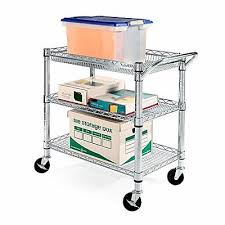 office rolling cart. modren cart rolling utility cart 3 tier shelves storage wire metal kitchen office wheels for