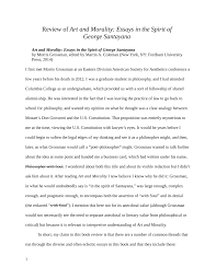 Pdf Review Of Art And Morality Essays In The Spirit Of George
