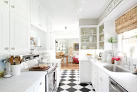 Checkered Kitchen Floor Top Modern Kitchen Flooring Materials Small Design Ideas