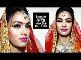 beautiful indian bridal makeup tutorial step by step glitter eyes pink lips by priyadeep in hindi beauty
