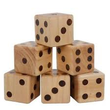 Wooden Yard Games Giant Wooden Yard Dice Set Large Dice Game With Bag For Lawn 91