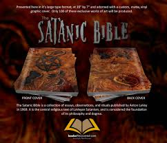 the satanic bible anton lavey necro design by 🔎zoom