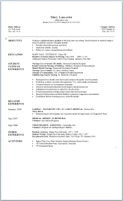 Resume Templates For Nurses Template Nursing Student Resume Template Examples Seeking A 38