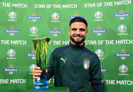 """UEFA EURO 2020 on Twitter: """"🌟 🇮🇹 An inspired performance from Italy  magician Lorenzo Insigne 👏👏👏 #EUROSOTM   @Heineken"""