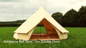5m sandstone double door bell tent by boutique camping