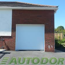 white roller garage door swansea