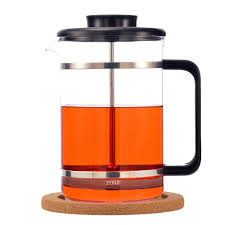 mombasa modern  cup french press with cork base  grosche