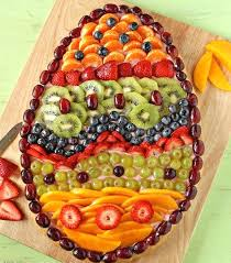 How To Decorate Fruit Tray Easter inspiration eggshaped fruit pie or plater Food 13