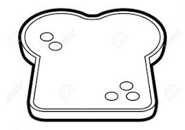 slice of bread template. Delighful Template Slice Of Bread Drawing A At Getdrawings  Free  For Personal Intended Template L