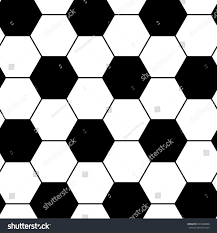 Football Pattern New Black White Soccer Ball Pattern Hexagon Stock Vector Royalty Free