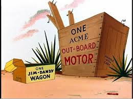 acme logo roadrunner. acme out-board motor and jim-dandy wagon...for all your acme logo roadrunner