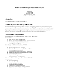 Resume Store 12 Retail Store Manager Resume Examples Manager Example Cute  Grocery