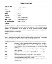 Gallery Of Sample Nursing Cv 7 Documents In Pdf Word Nurse Resume