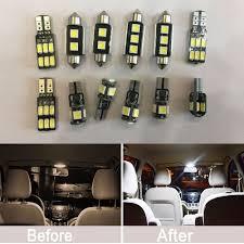 Mk5 Jetta Led Interior Lights 12pcs Error Free White Kit Led Interior Lights For Vw Mk5