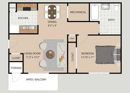 3 Bedroom Floor Plans Unique Decorating Ideas