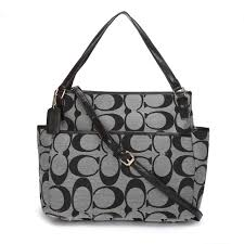 Coach Baby In Signature C Fabric Medium Grey Totes ANX ...
