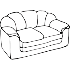 couch clipart black and white. Simple Couch Couch Clipart Black And White Intended Couch Clipart Black And White G