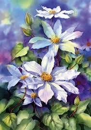 how to paint flowers using wet in wet watercolour paint