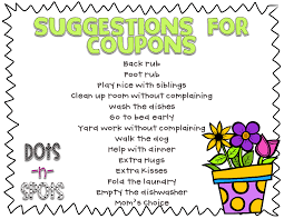 just in time for mother s day i plan to brainstorm coupon ideas my class next week but i figured it would be a good idea if i had some ideas already written to help guide their