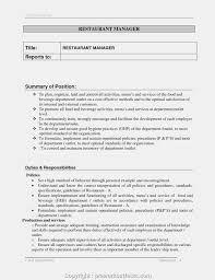 Downloadable Duties And Responsibilities Of Restaurant Supervisor
