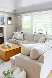 our updated living room design clean