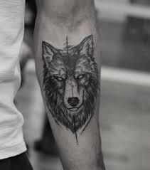 Wolf Sketch Illustrative Tetování Fantastiske Tatoveringer Små