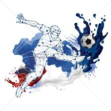 Soccer Graphic Design Abstract Soccer Player Design Vector Image 1818055