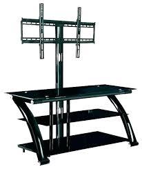 3 shelf glass tv stand with corner